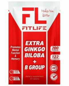 Extra Ginkgo Biloba + B Group 20 tablets